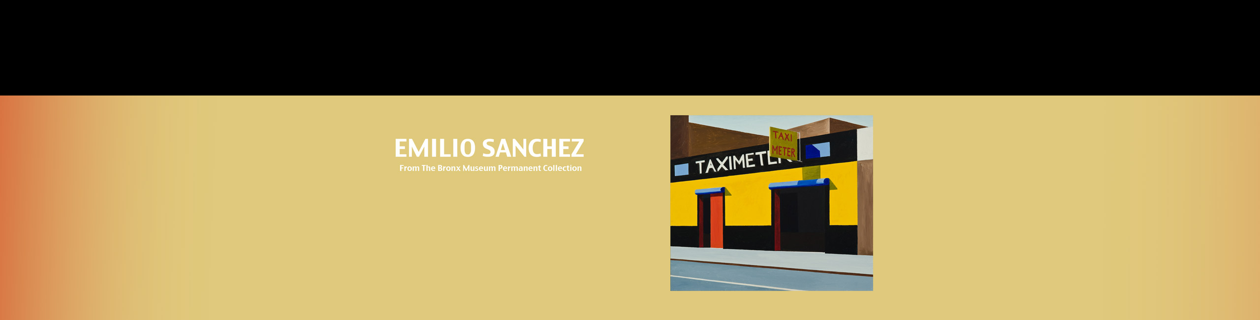 On View @ the Art Gallery: Paintings by Cuban-American Artist Emilio Sanchez from the Bronx Museum Permanent Collection Through Jan. 5