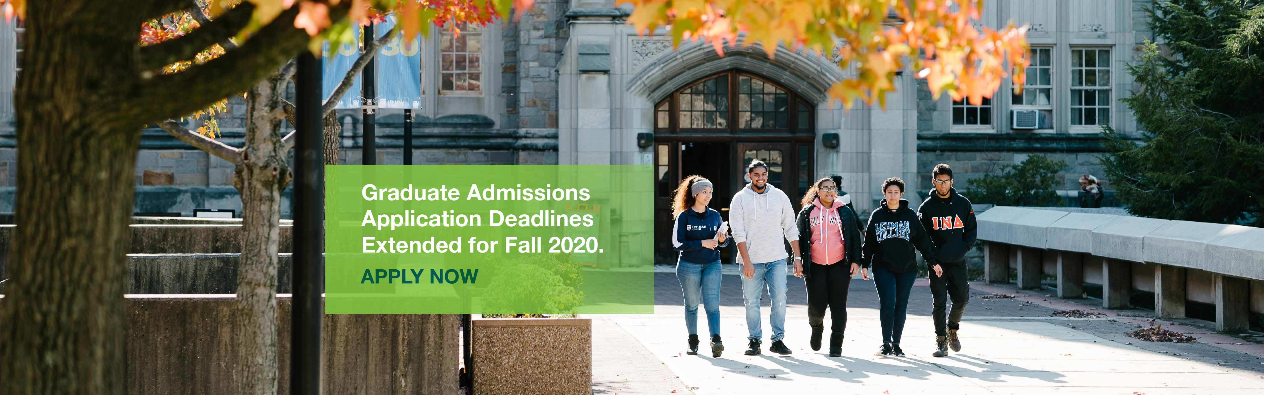 Banner for Fall 2020 Graduate Admissions