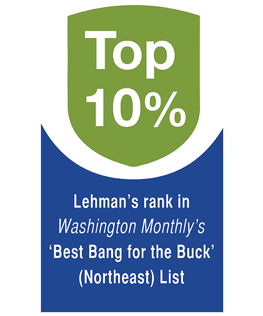 Photo Graphic 4 Lehman's rank in Washington Monthly's 'Best Bang for the Buck' (Northeast) List