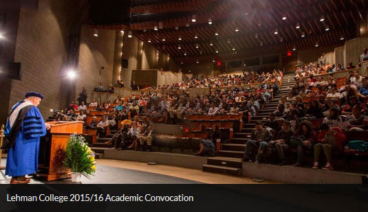 Lehman College 2015 to 2016 Academic Convocation