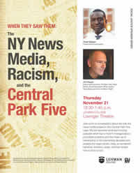 When They Saw Them: The New York News Media, Racism, and the Central Park Five