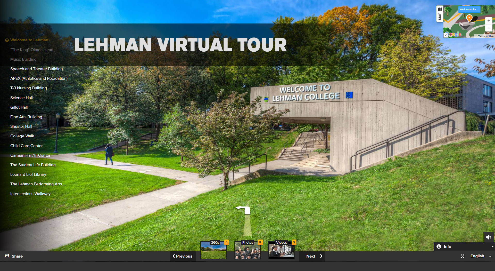 Take the Lehman College Virtual Tour