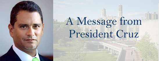 A Message from Lehman College President José Luis Cruz