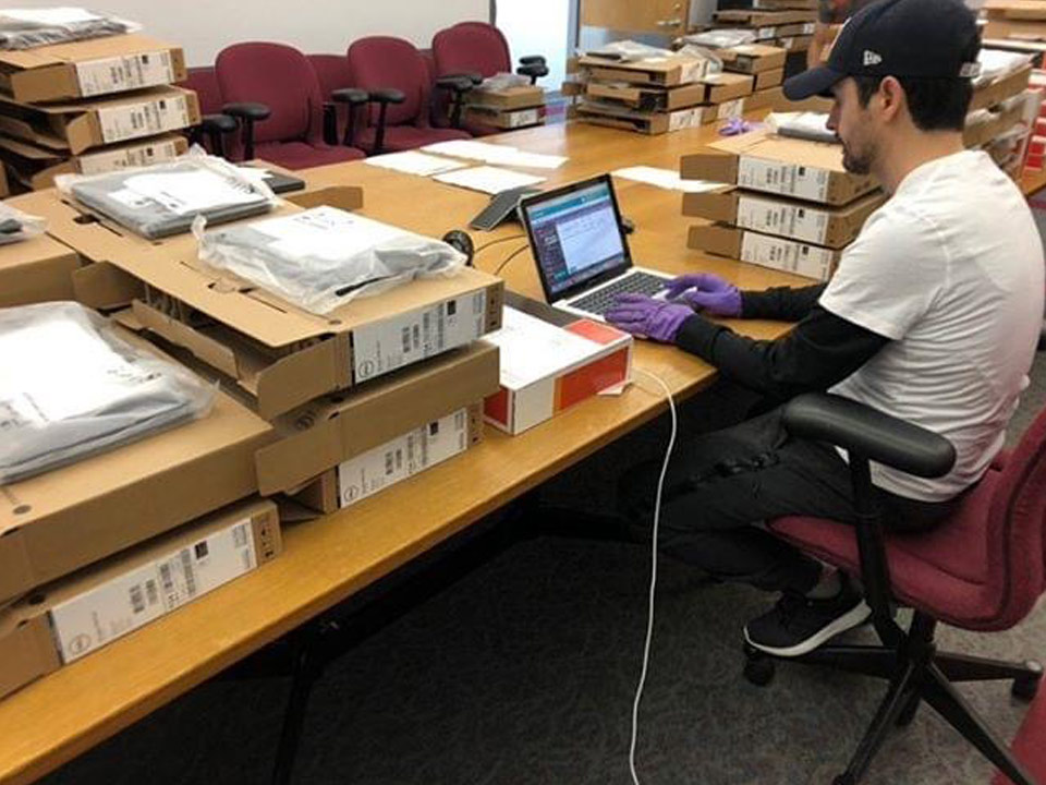 Lehman Laptop Loaner Program Keeps Students on Track and in Class