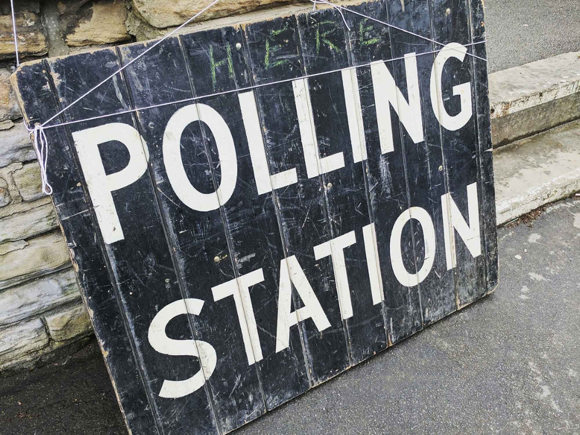 Photo of Polling Station sign