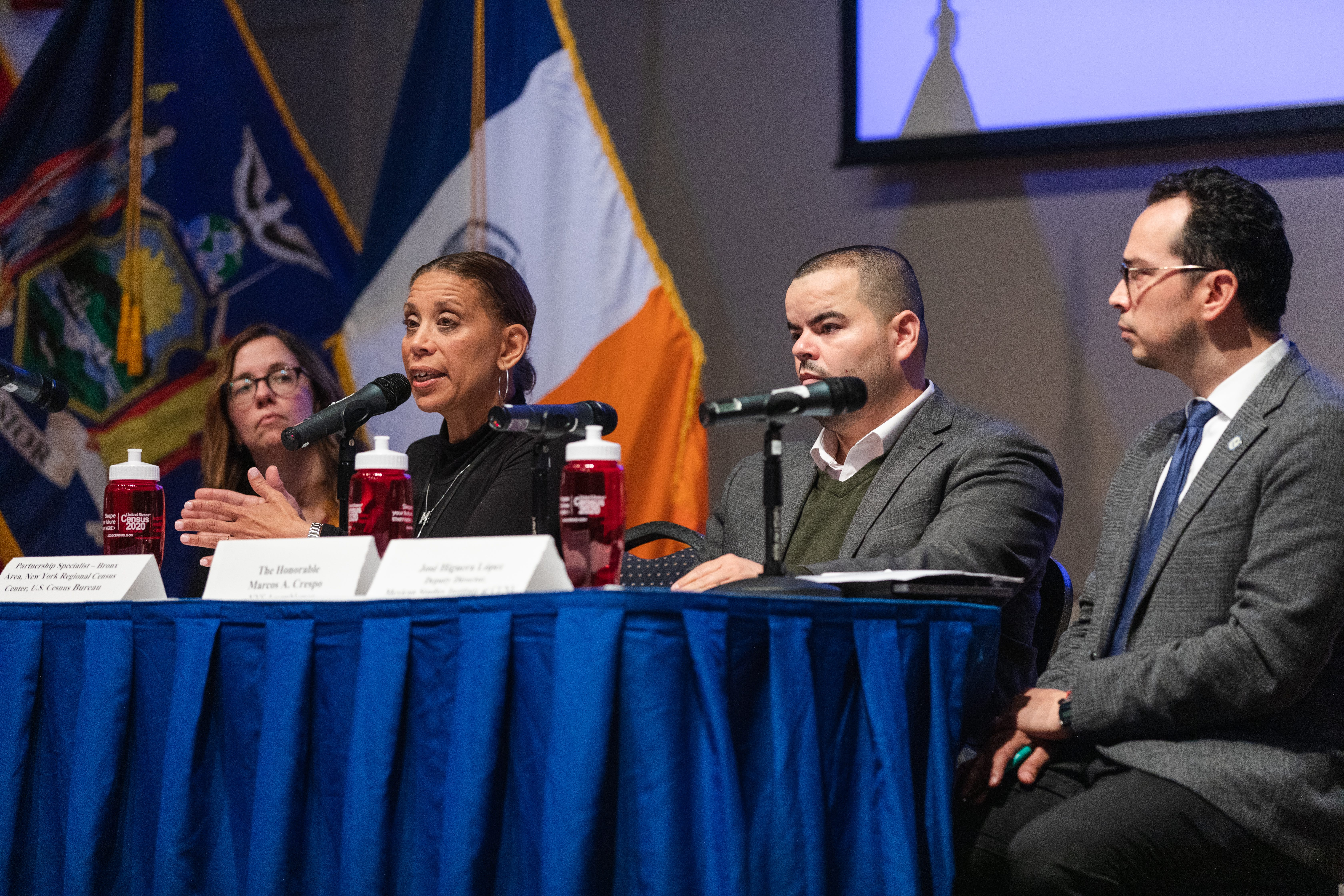 "Photo of participants in the ""Make the Bronx Count"" panel."