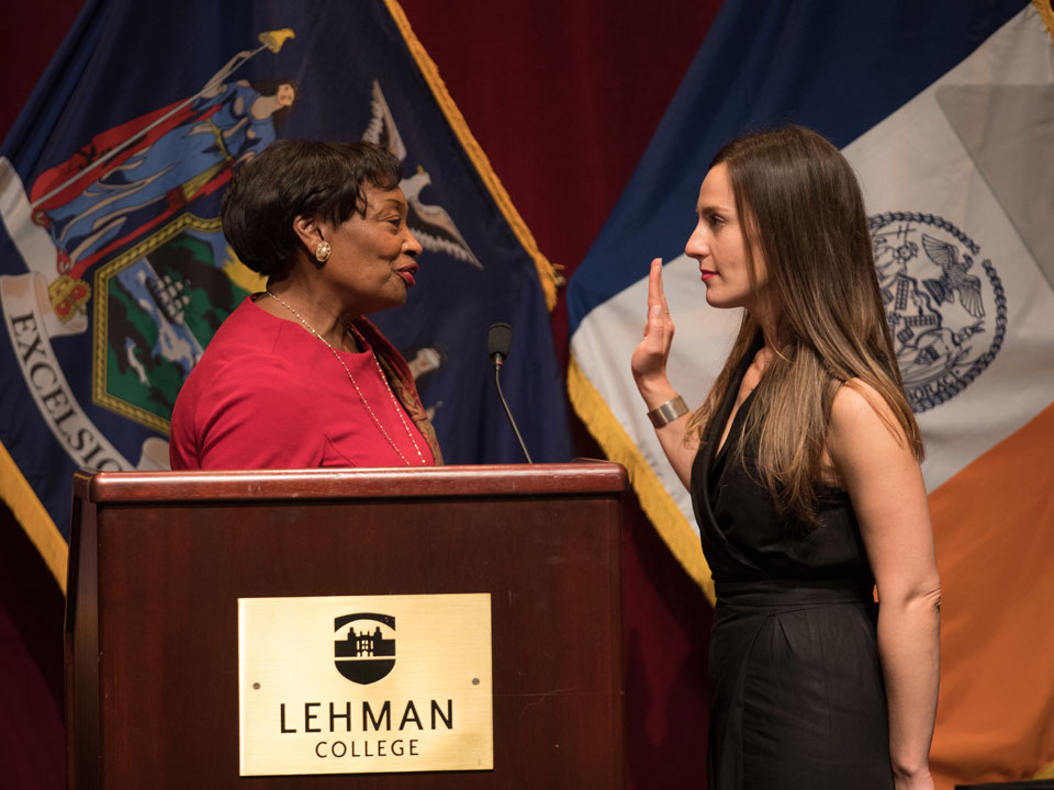 New State Senator Holds Inauguration Ceremony at Lehman
