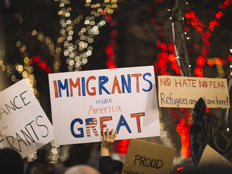 Photo of Signs Promoting Immigration