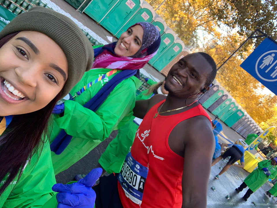 Photo of Lehman Students 2018 NYC Marathon