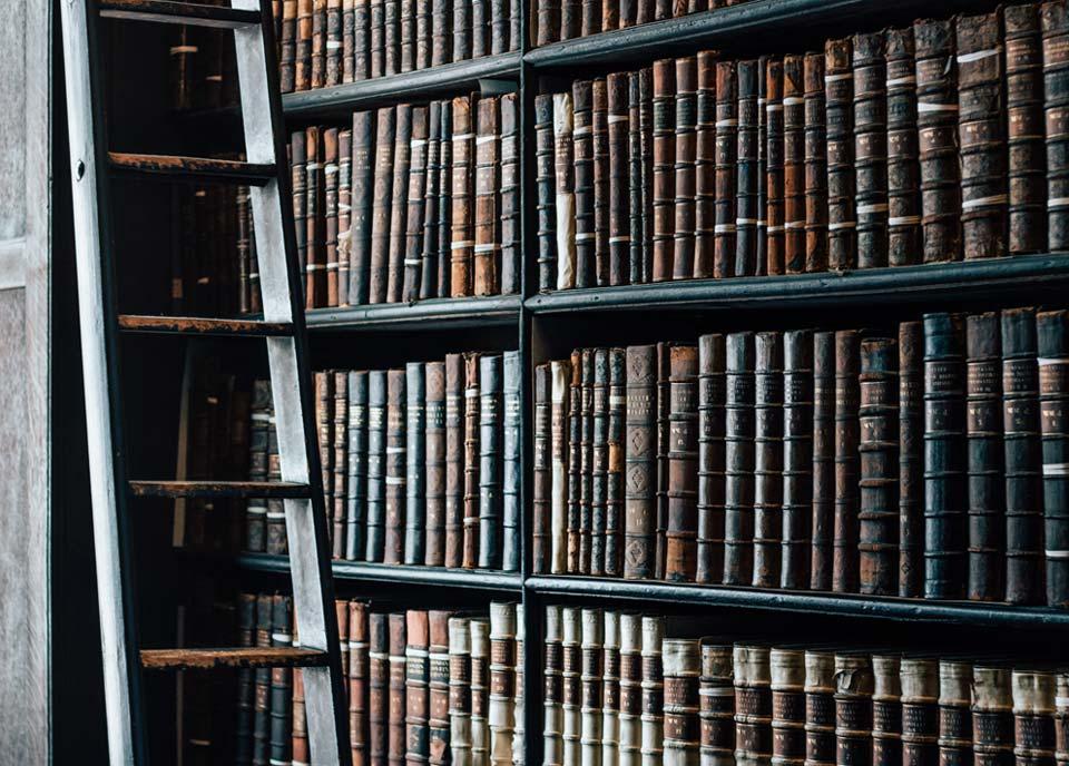 Photo of bookshelf